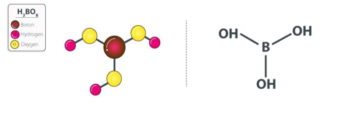 فرمول شیمیایی اسید بوریک