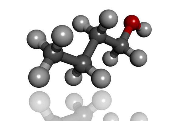 ساختار فرمول شیمیایی نرمال بوتانول