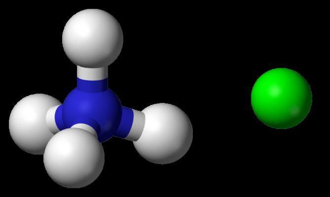 ساختار شیمیایی کلرید آمونیوم
