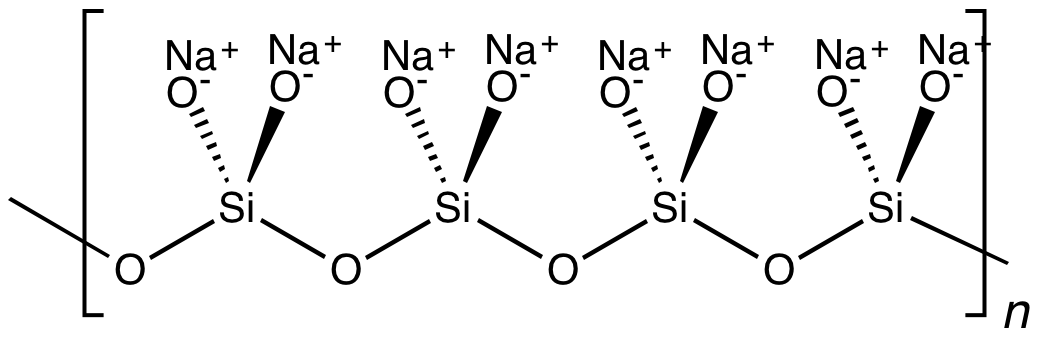 فرمول شیمیایی متاسیلیکات سدیم
